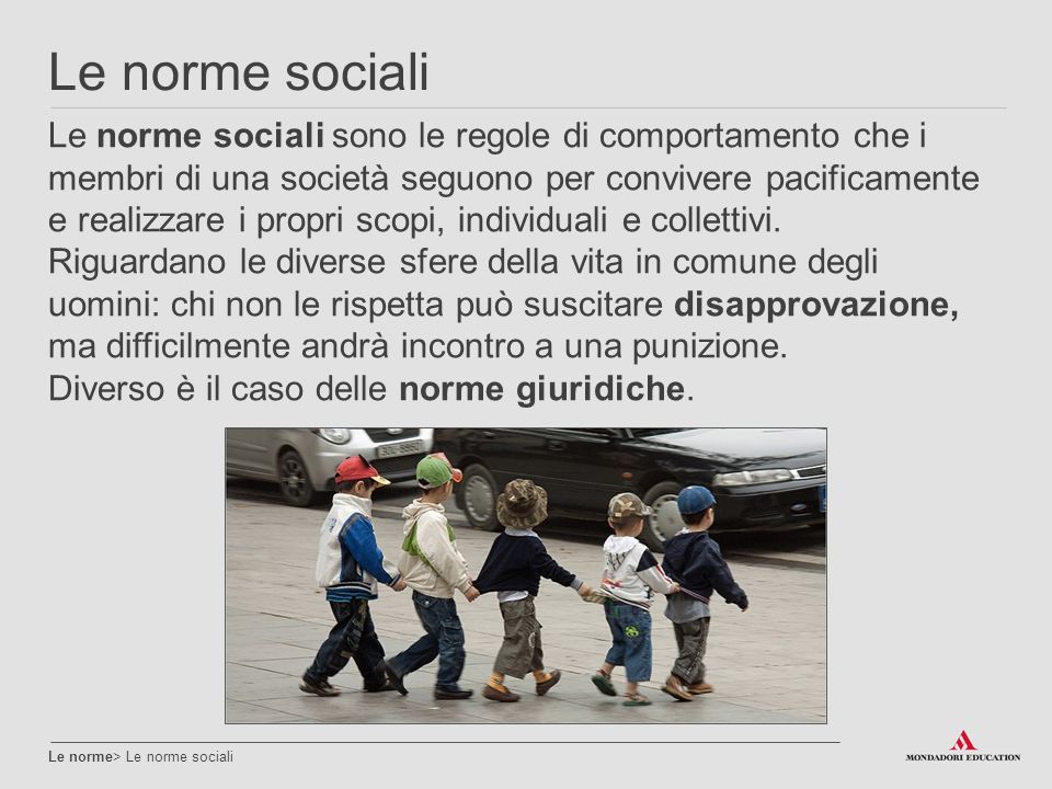 Le norme sociali