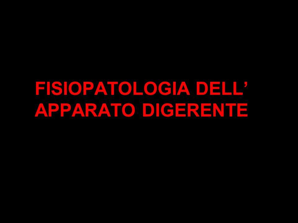 FISIOPATOLOGIA DELL' APPARATO DIGERENTE