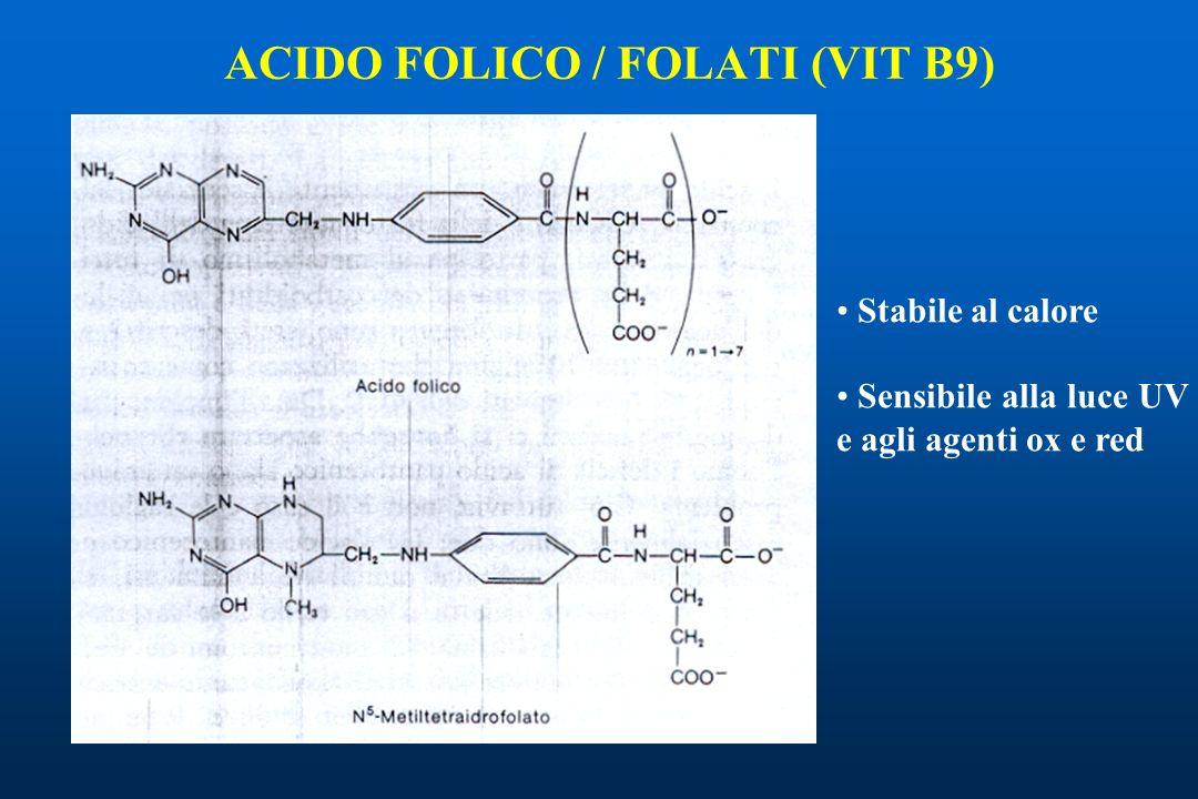 ACIDO FOLICO / FOLATI (VIT B9)