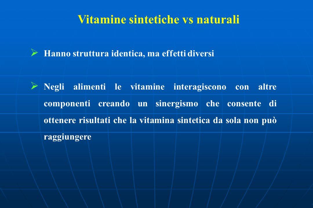 Vitamine sintetiche vs naturali
