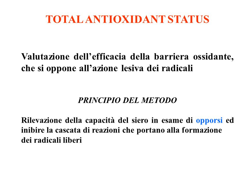 TOTAL ANTIOXIDANT STATUS