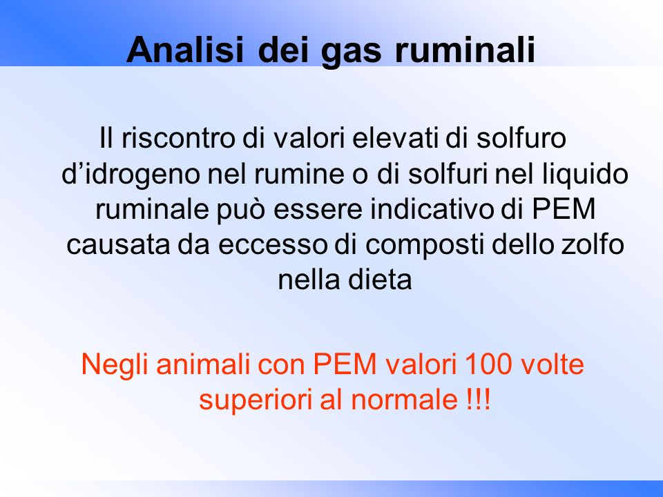 Analisi dei gas ruminali