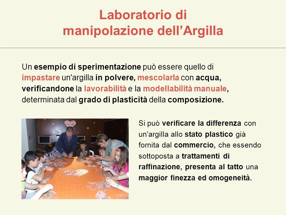 Laboratorio di manipolazione dell'Argilla