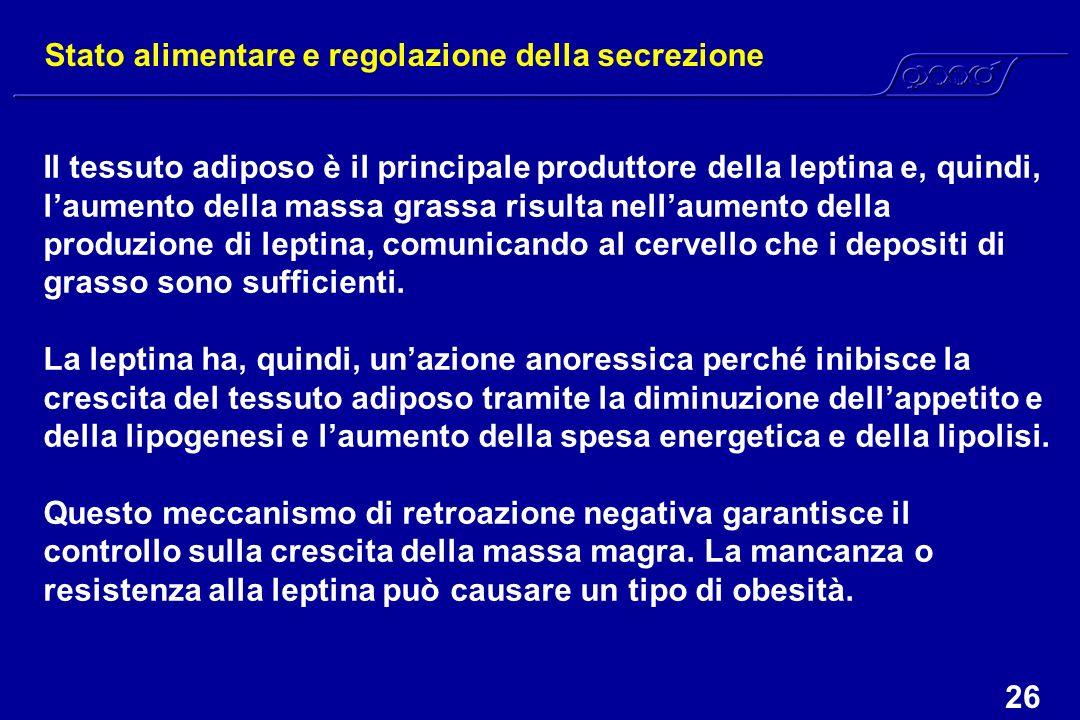 Stato alimentare e regolazione della secrezione