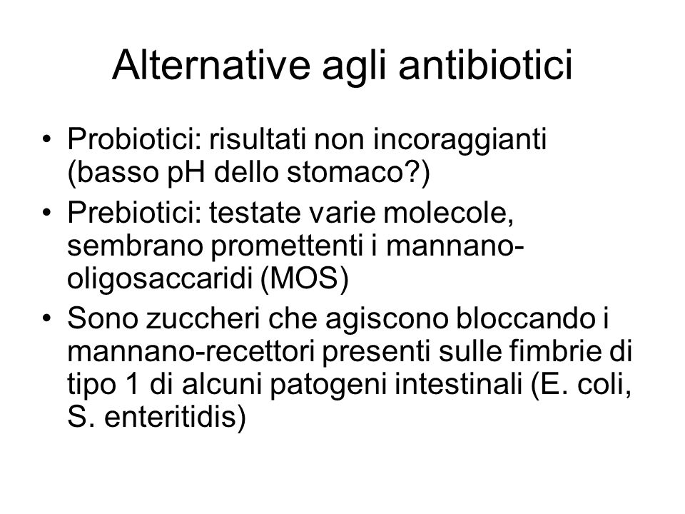 Alternative agli antibiotici