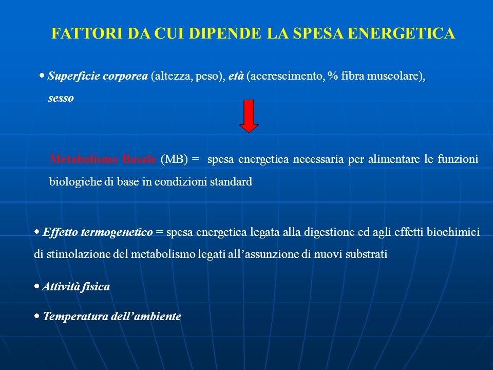 FATTORI DA CUI DIPENDE LA SPESA ENERGETICA