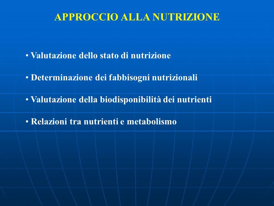APPROCCIO ALLA NUTRIZIONE