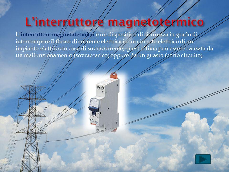 L'interruttore magnetotermico