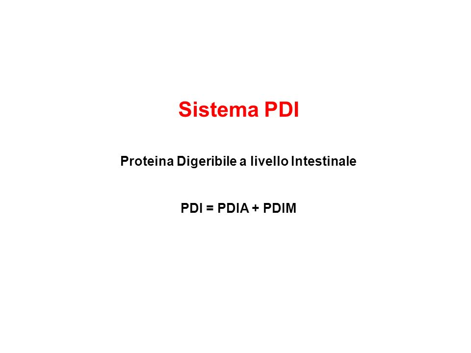 Proteina Digeribile a livello Intestinale