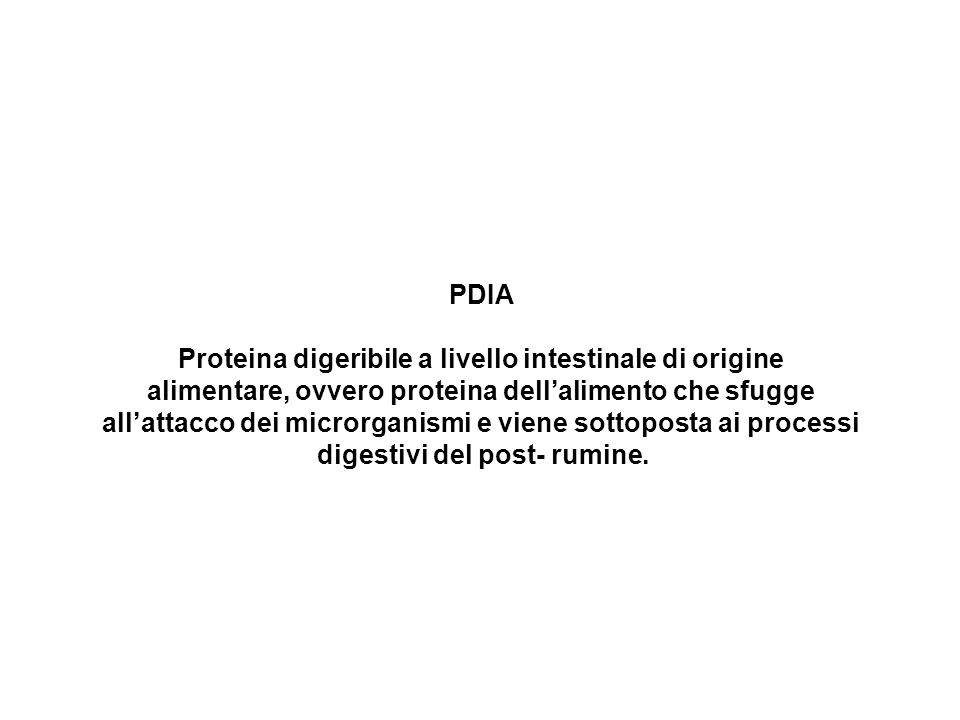 Proteina digeribile a livello intestinale di origine