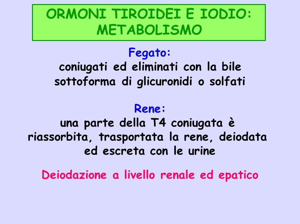 ORMONI TIROIDEI E IODIO: METABOLISMO