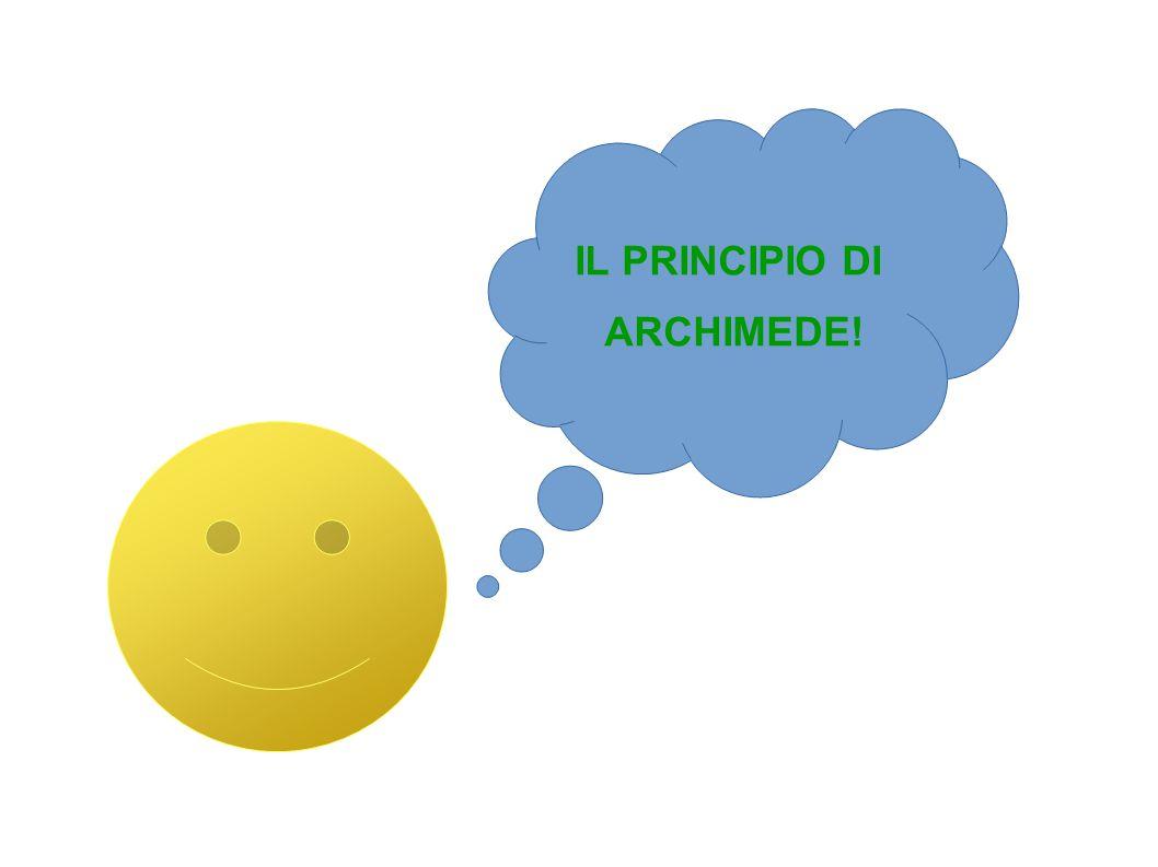 IL PRINCIPIO DI ARCHIMEDE!