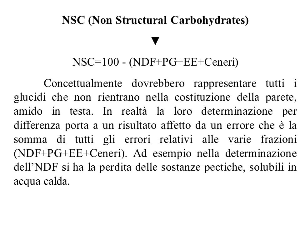 NSC (Non Structural Carbohydrates)