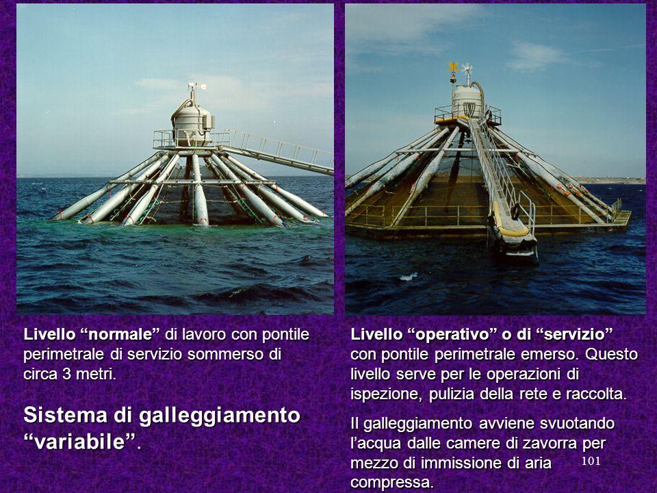 Sistema di galleggiamento variabile .