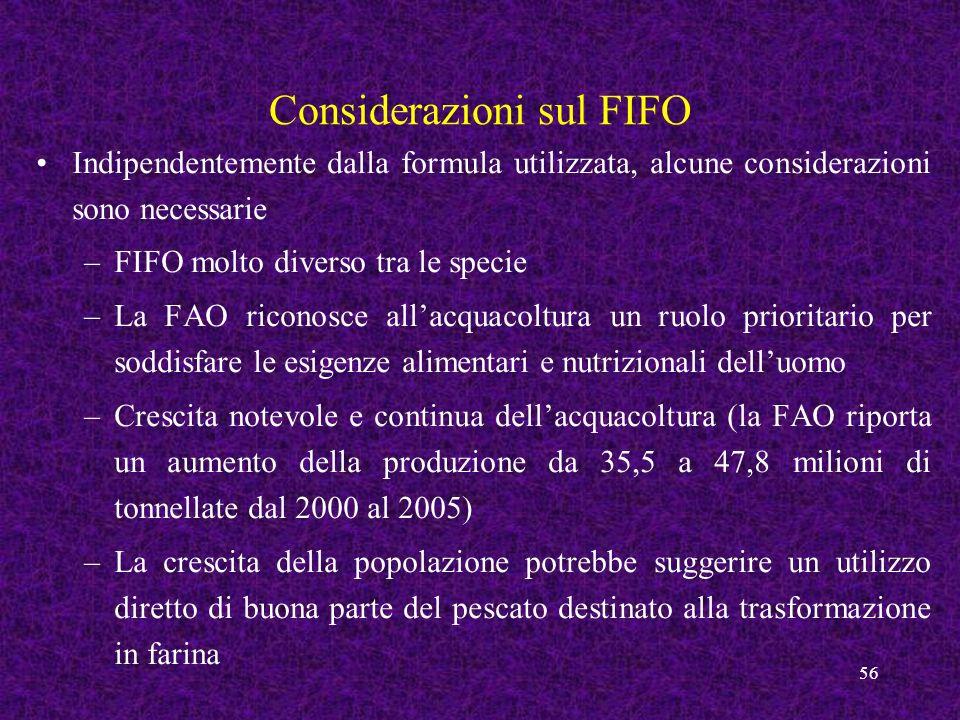 Considerazioni sul FIFO