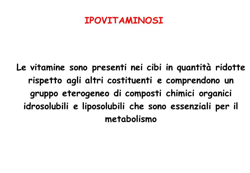 IPOVITAMINOSI