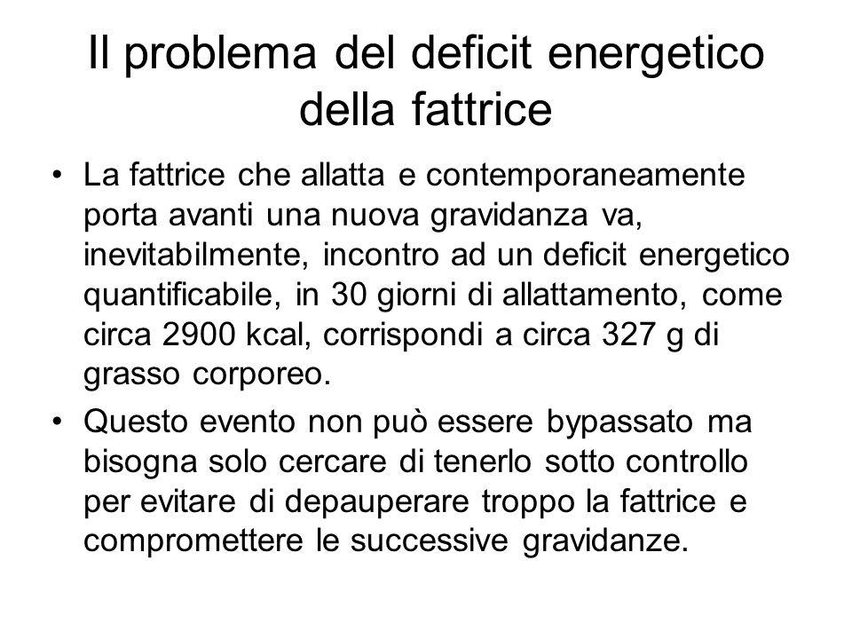 Il problema del deficit energetico della fattrice