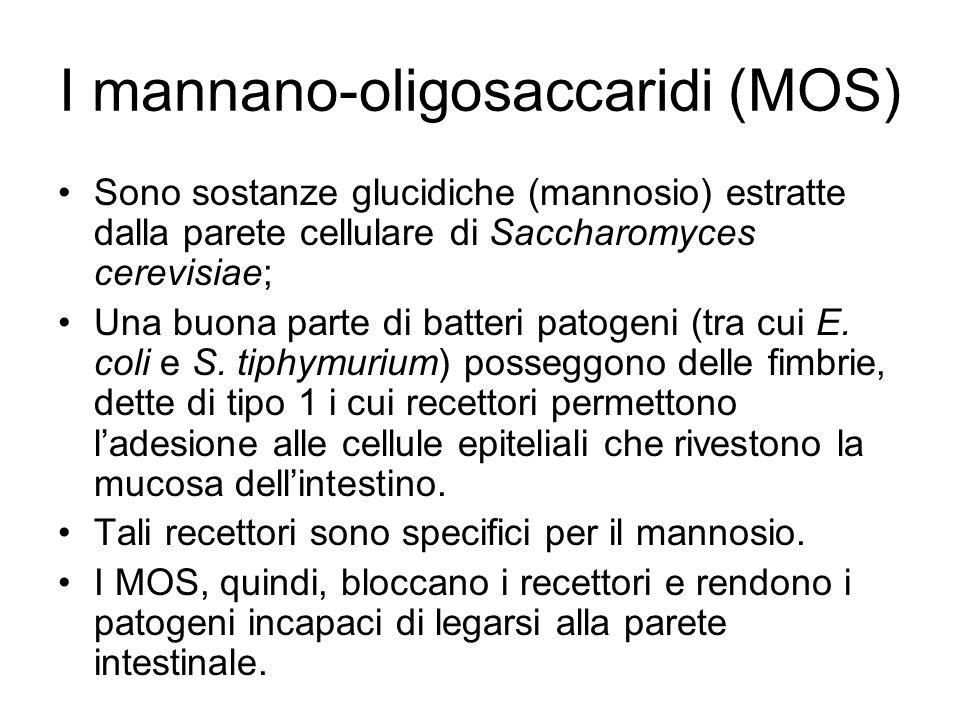 I mannano-oligosaccaridi (MOS)