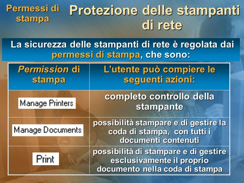 Protezione delle stampanti di rete
