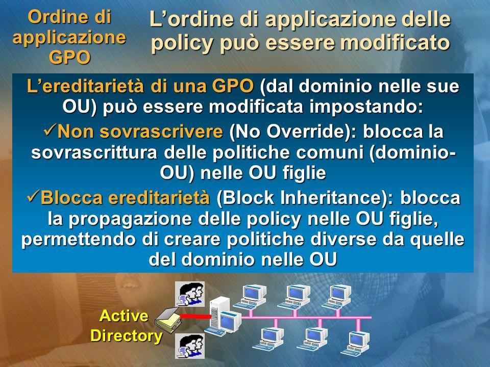 Ordine di applicazione GPO