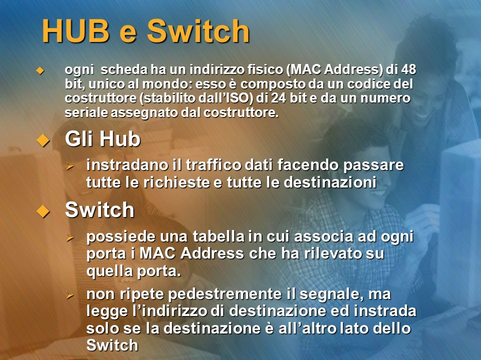 HUB e Switch Gli Hub Switch