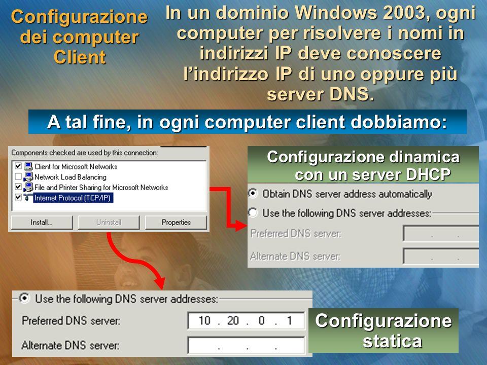 Configurazione dei computer Client