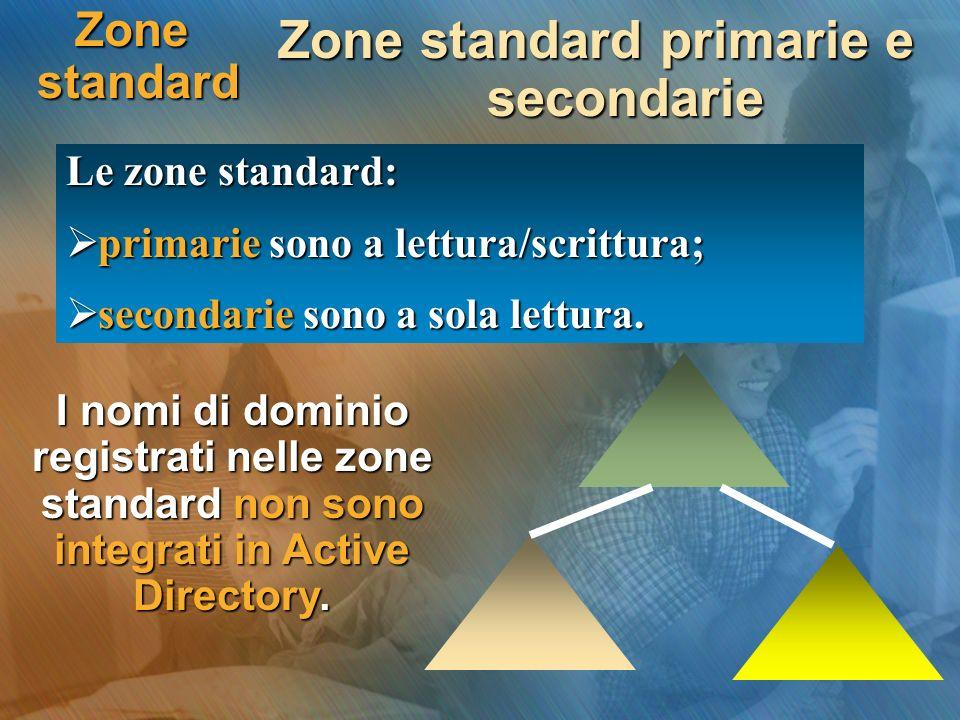 Zone standard primarie e secondarie