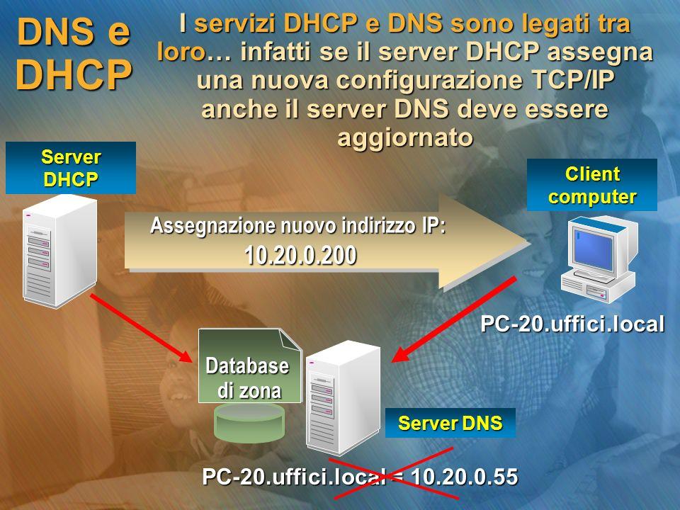 Assegnazione nuovo indirizzo IP: