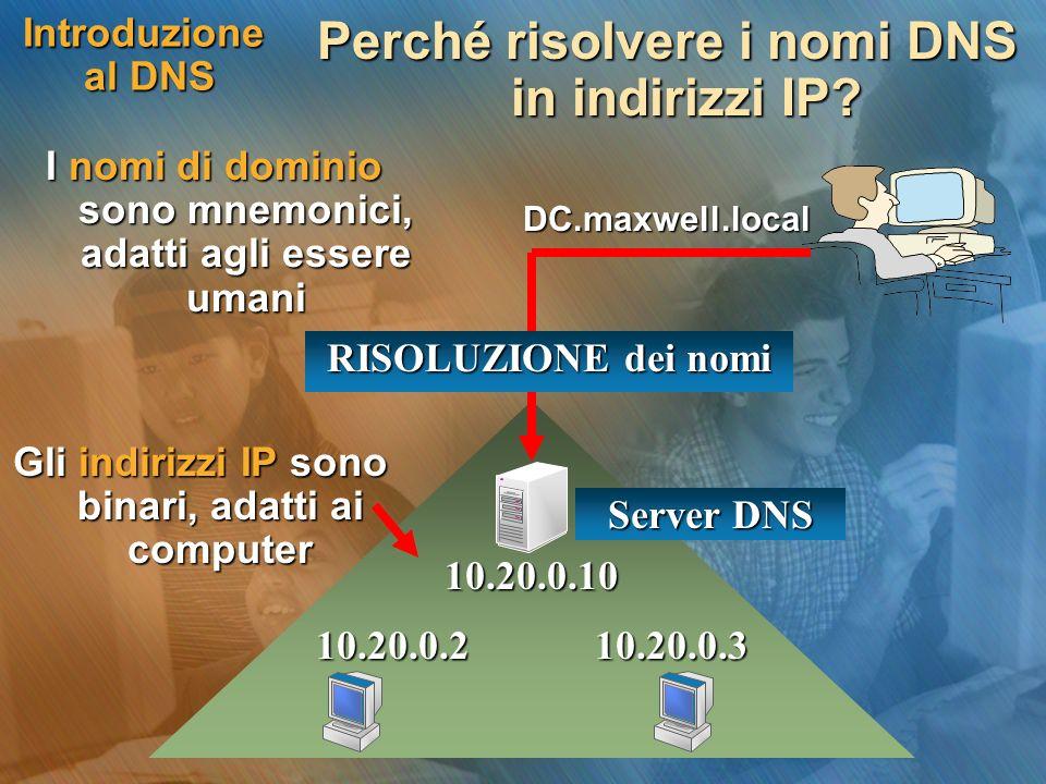 Perché risolvere i nomi DNS in indirizzi IP