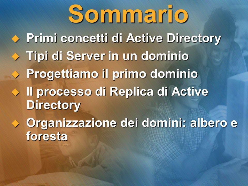 Sommario Primi concetti di Active Directory