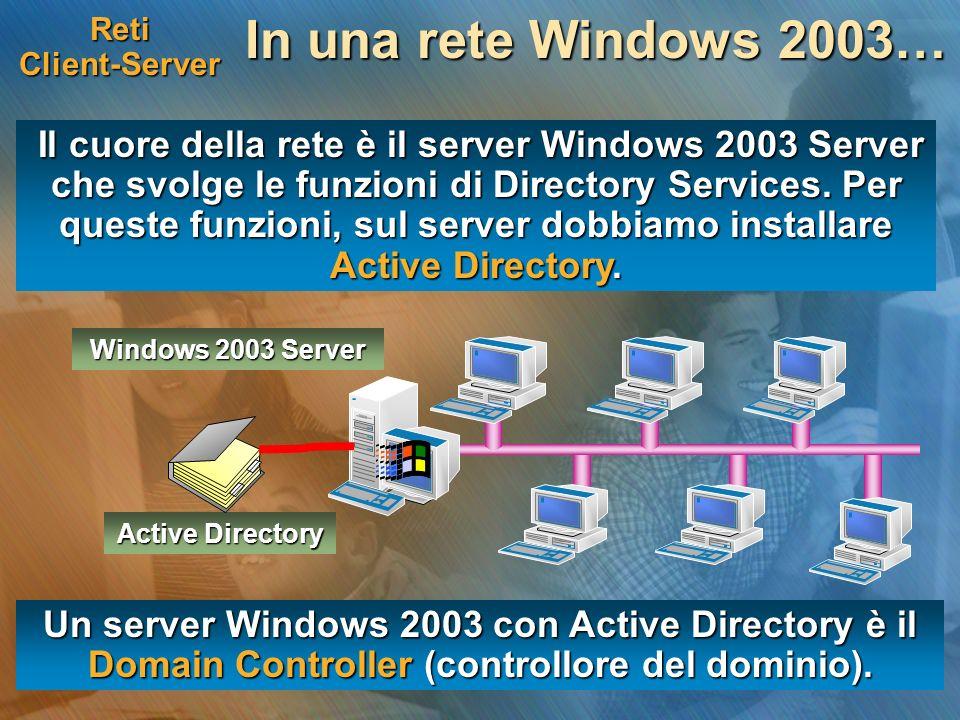 Reti Client-ServerIn una rete Windows 2003…