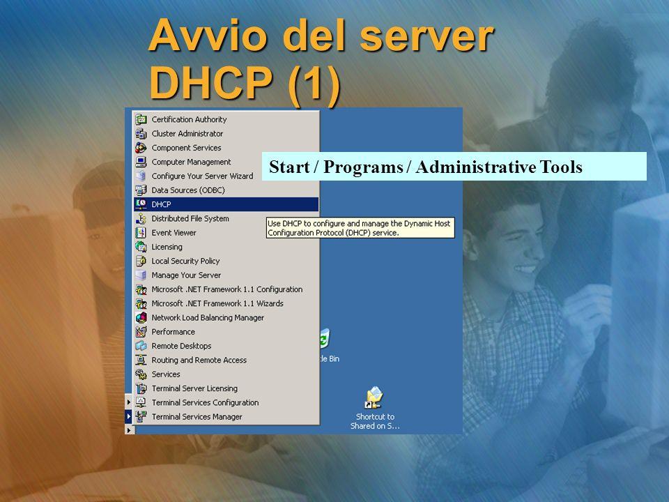 Avvio del server DHCP (1)