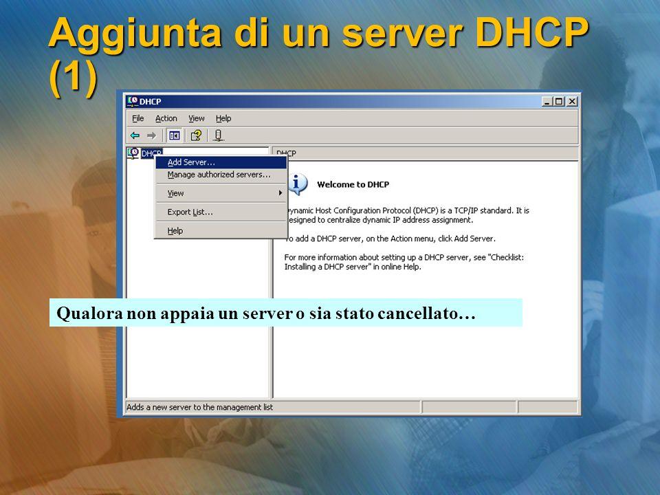 Aggiunta di un server DHCP (1)