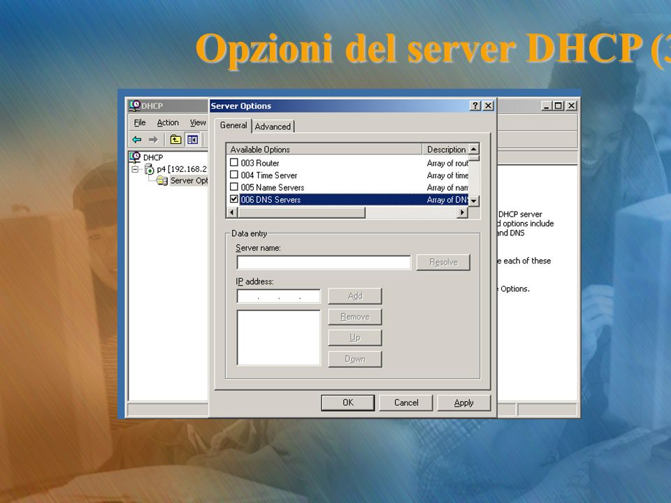 Opzioni del server DHCP (3)