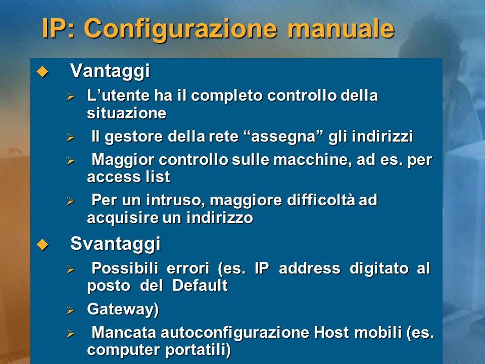 IP: Configurazione manuale