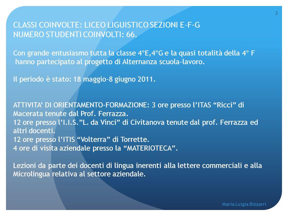 CLASSI COINVOLTE: LICEO LIGUISTICO SEZIONI E-F-G