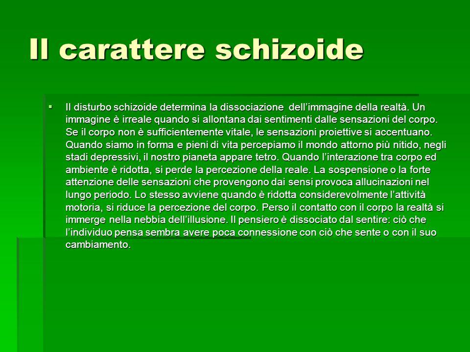 Il carattere schizoide