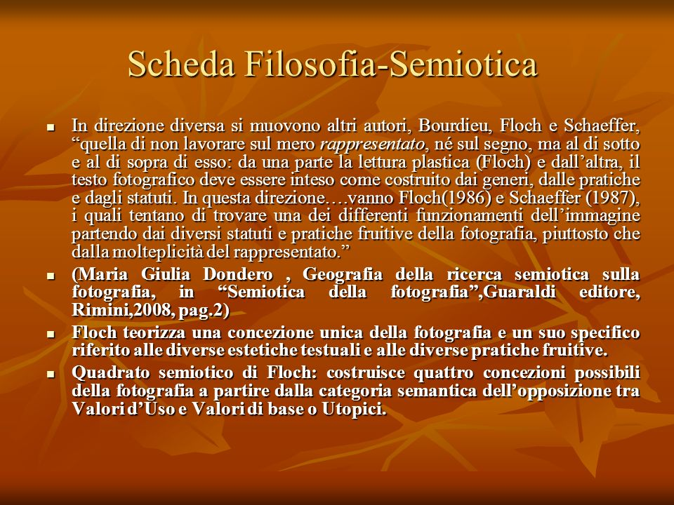 Scheda Filosofia-Semiotica