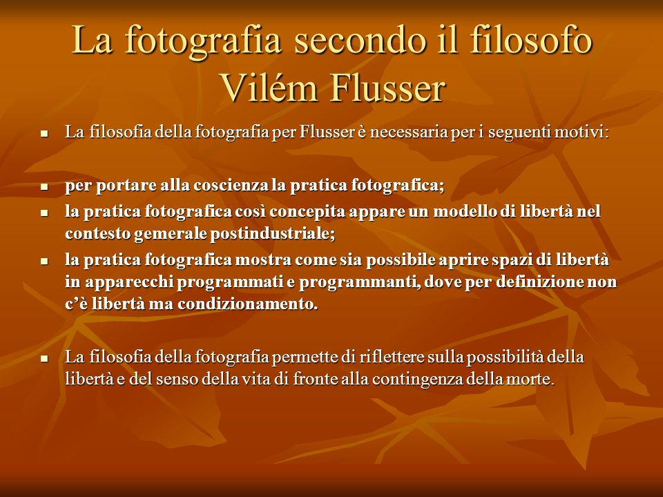 La fotografia secondo il filosofo Vilém Flusser