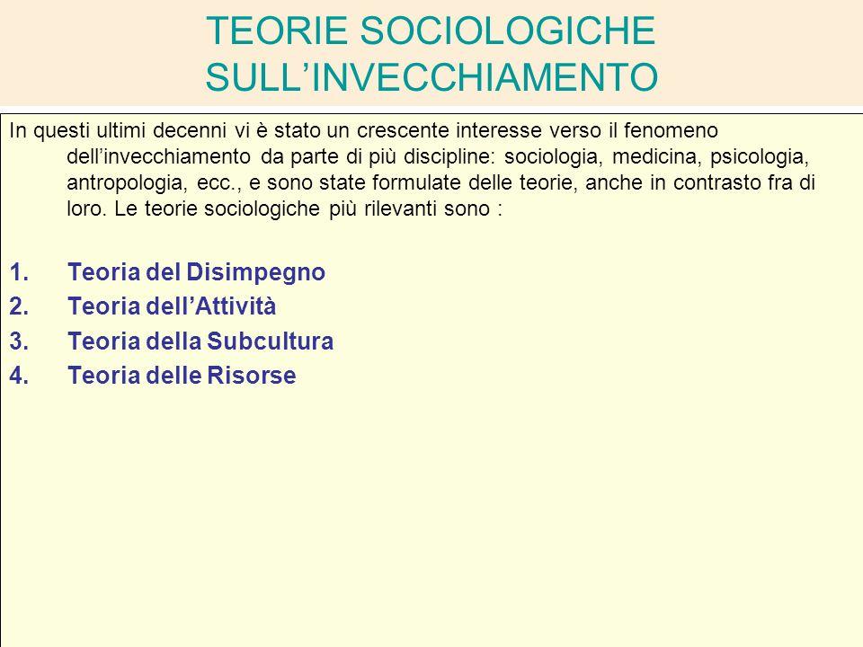 La condizione dell anziano nella societa complessa - Teoria delle finestre rotte sociologia ...
