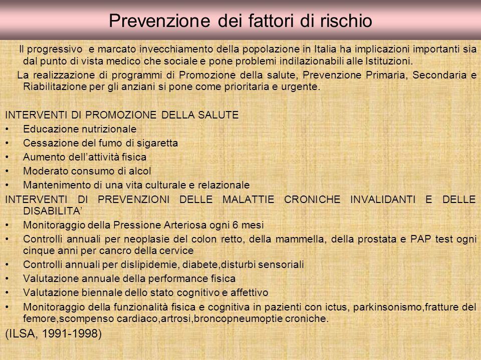 Prevenzione dei fattori di rischio