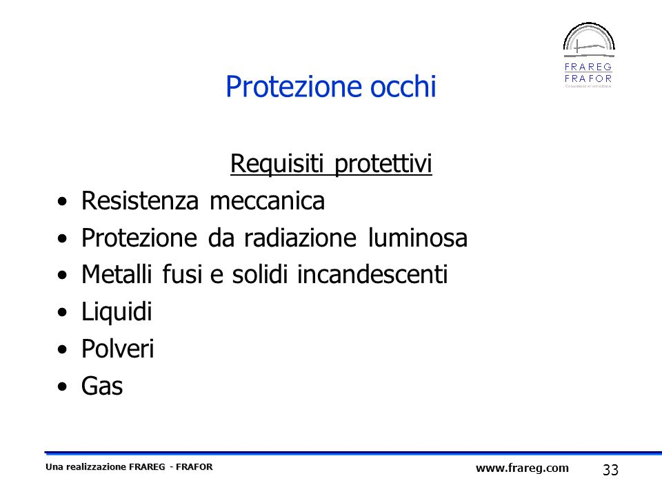 Protezione occhi Requisiti protettivi Resistenza meccanica