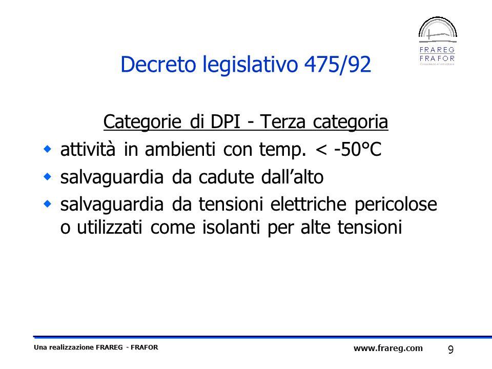 Categorie di DPI - Terza categoria