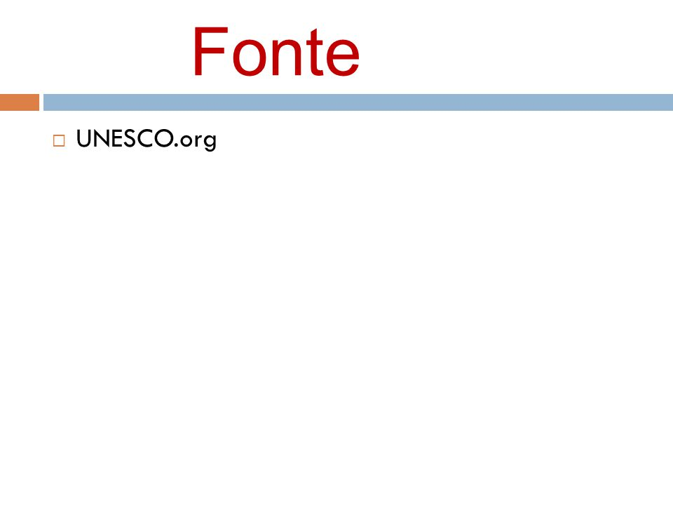 Fonte UNESCO.org