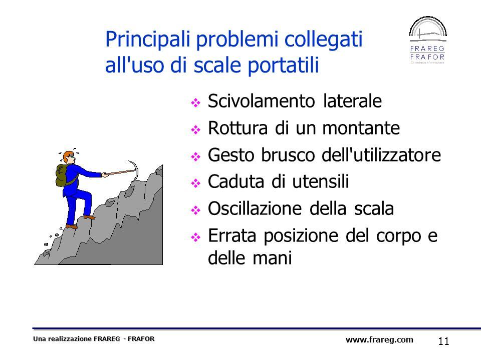 Principali problemi collegati all uso di scale portatili