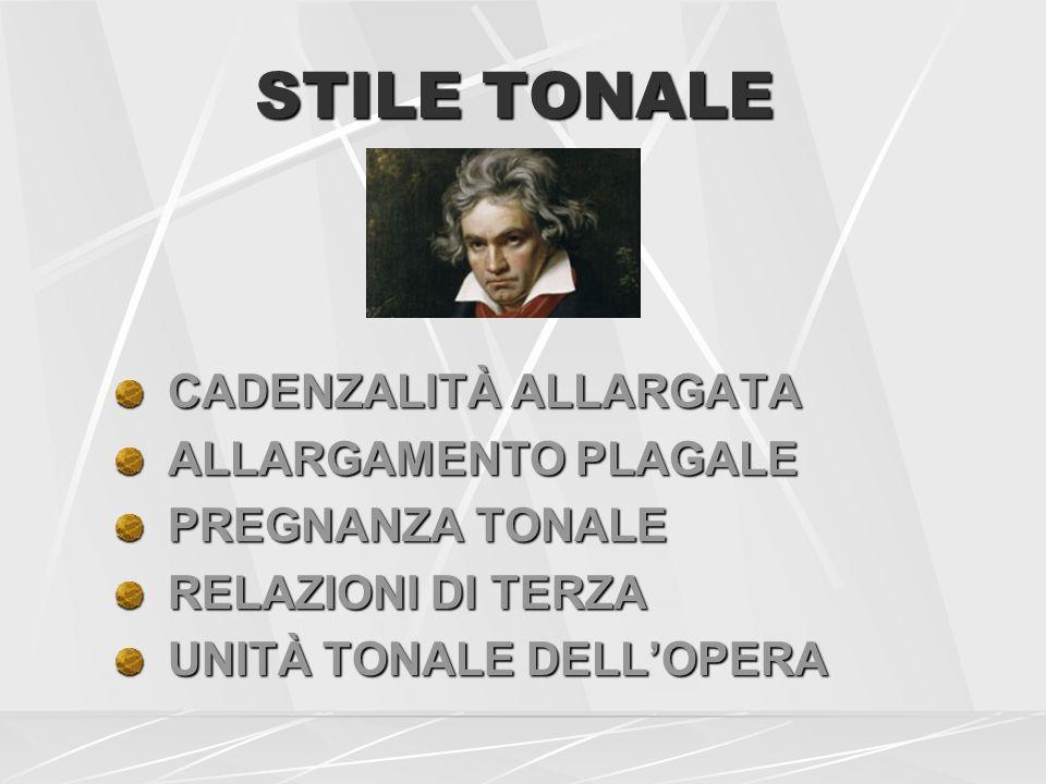 STILE TONALE CADENZALITÀ ALLARGATA ALLARGAMENTO PLAGALE
