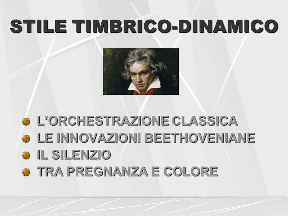 STILE TIMBRICO-DINAMICO