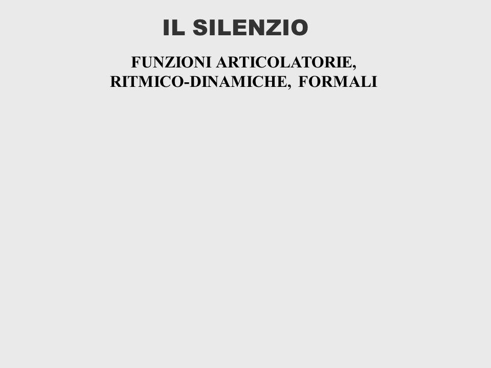 FUNZIONI ARTICOLATORIE, RITMICO-DINAMICHE, FORMALI