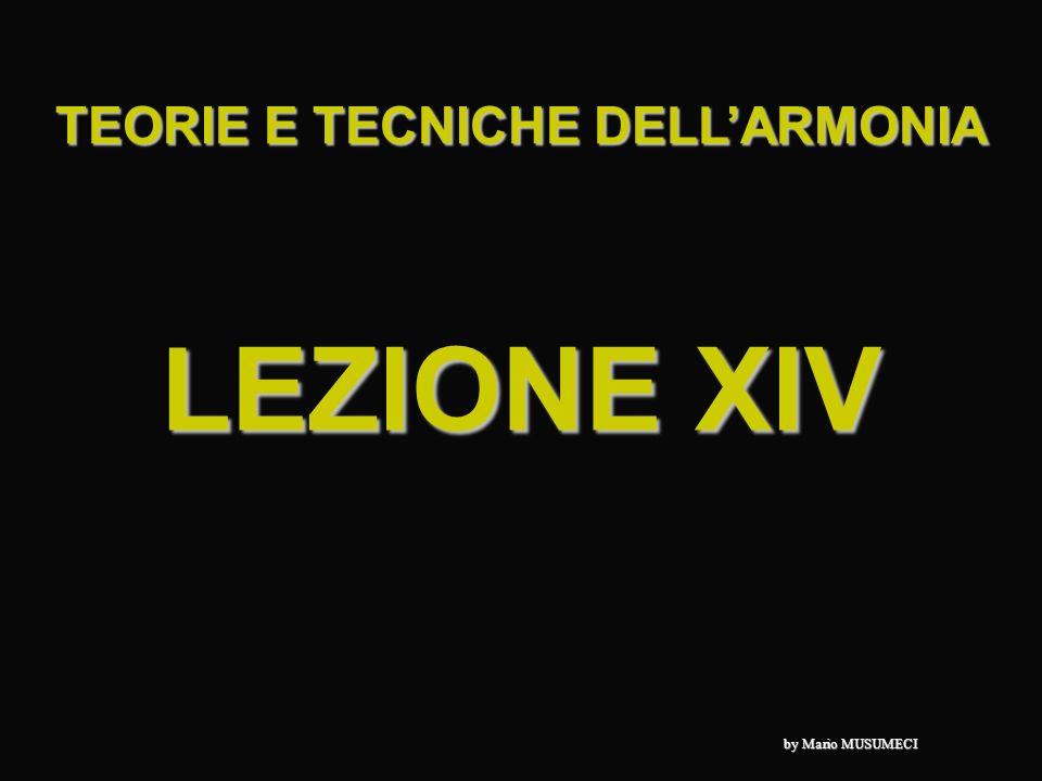 TEORIE E TECNICHE DELL'ARMONIA