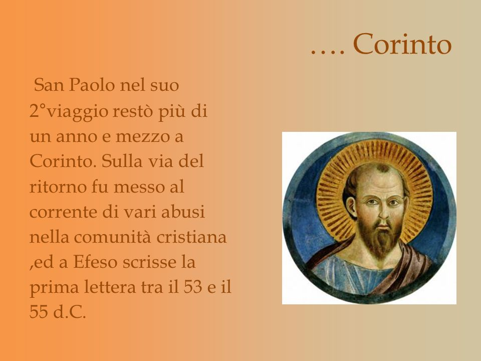 …. Corinto